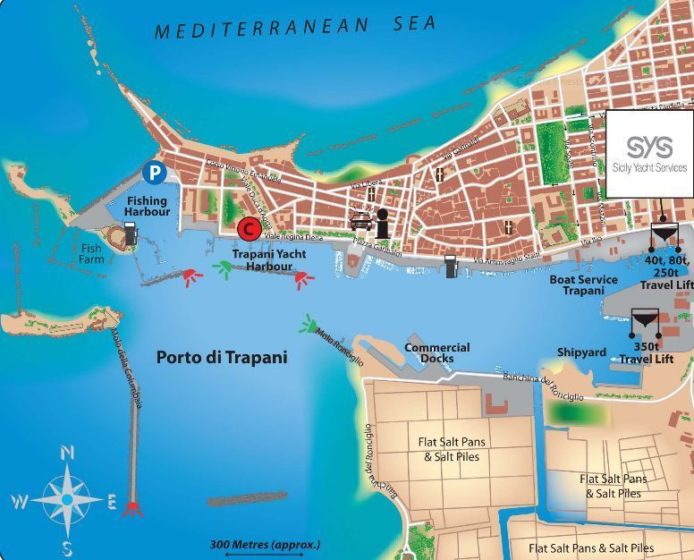 trapani port map